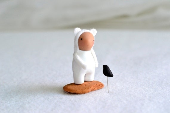 basil - miniature clay sculpture