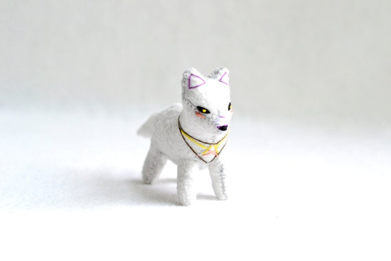 mini spirit fox - soft sculpture animal