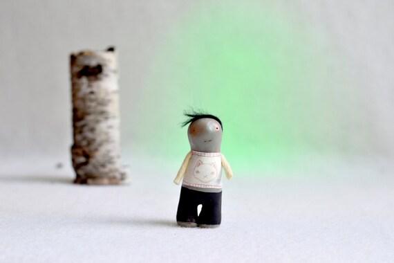 zombie boy samuel - miniature halloween sculpture