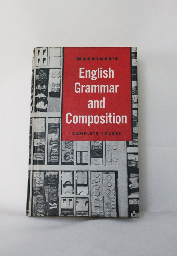 Reserved vintage text book: english grammar and composition // 1960s