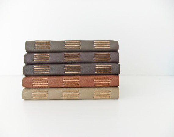 Leather Journals - in a choice of colours - reclaimed leather journals - leather notebooks