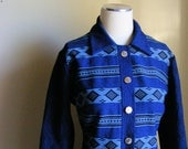 60s Mod Dress - Vintage 1960s Blue Shift Dress - Kitschy Teddy Bear Buttons XXL 1X Plus Size
