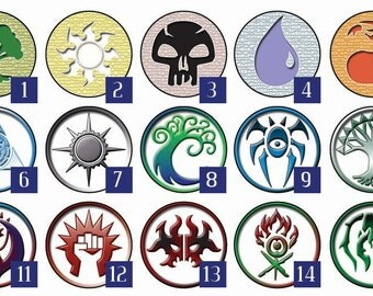 Magic CCG Customize your set of Guilds pins or Mana Pins