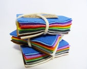 Baby Brights 17 Mini Felt Squares from Inky Pixie