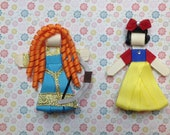 Princess Merida OR Snow White Hair Clips