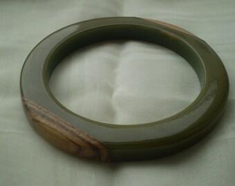 SALE Wood Inlaid  Bangle
