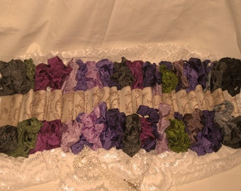 Hand Distressed and Scrunched Seam Binding Complete Violette Jardin Collection ECS
