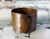 Hammered Copper Ring, statement ring, chunky, fashion, unisex, wide band, big, bold, sturdy, custom sized ring