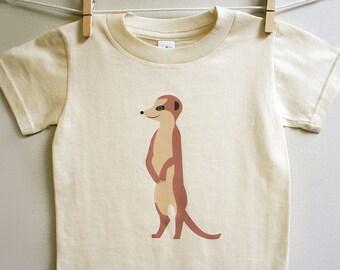 Toddler t-shirt, Meerkat t-shirt, Meerkat toddler tee . 2T - 5T