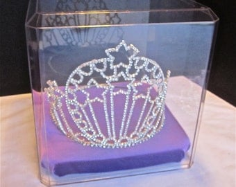 Crown or Tiara Large Display Case for Pageant or Princess