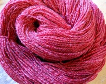 COUNTRY APPLE Merino Handspun Yarn in Soft RED Shades
