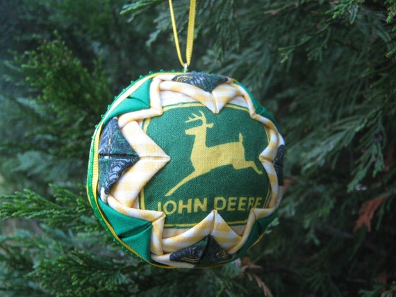 John Deere Quilted Christmas Ornament