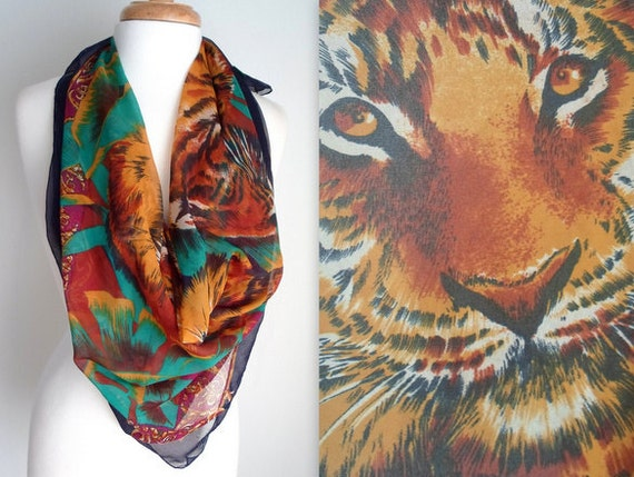 Colorful Tigers Scarf