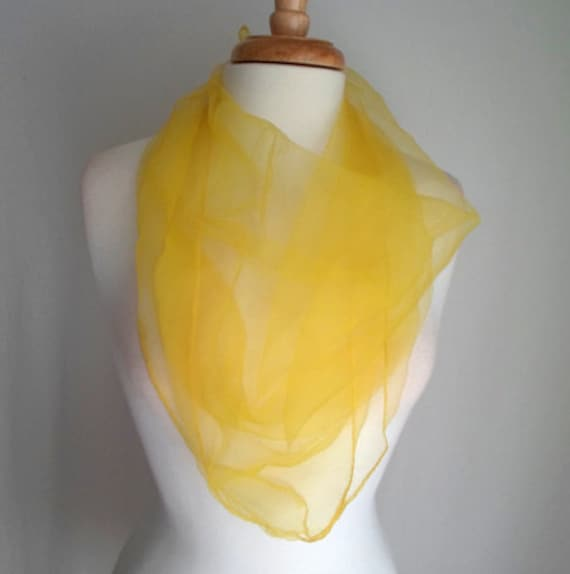 Bright Yellow Sheer Scarf