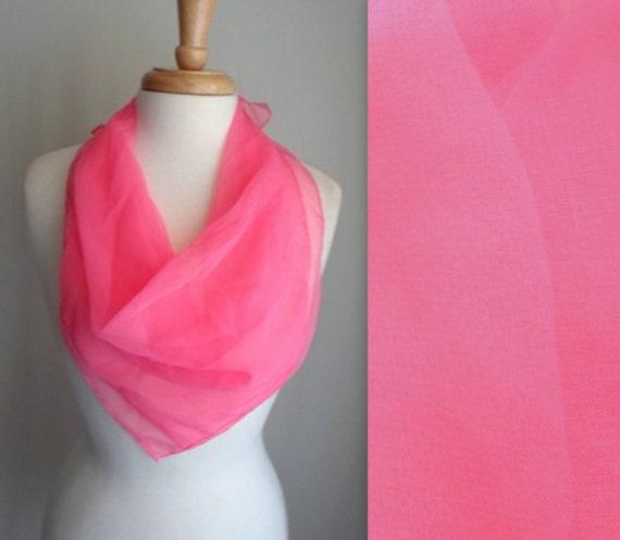 Bright Sheer Pink Scarf