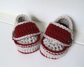 Crochet Pattern - Rugby Loafers Crochet Two Button Loafers Infant Sizes 0 to 24 Months