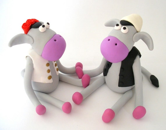 Albanian wedding cake topper, Custom donkey bride and groom cake topper, Albanian clothes
