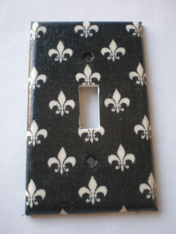 Items Similar To Fleur De Lis Light Switch Plate Black