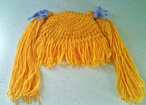 Crochet Hat Pattern Cabbage Patch Wig Costume Adult to