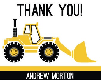 Construction Truck Thank You Card