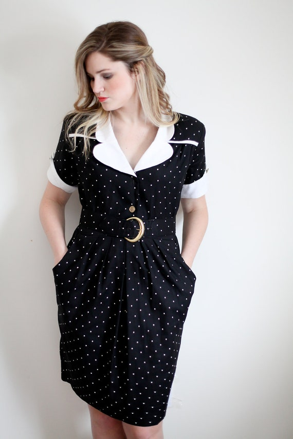 Polka Dot Flight Attendant Dress  SALE: 50% off  use THINKSPRING