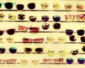 Sunglasses Summer Beach Ocean Glasses Boardwalk - 5x7 art photography print by Dawn Smith