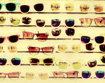 Sunglasses Summer Beach Ocean Glasses Boardwalk - 5x7 art photography print by Dawn Smith