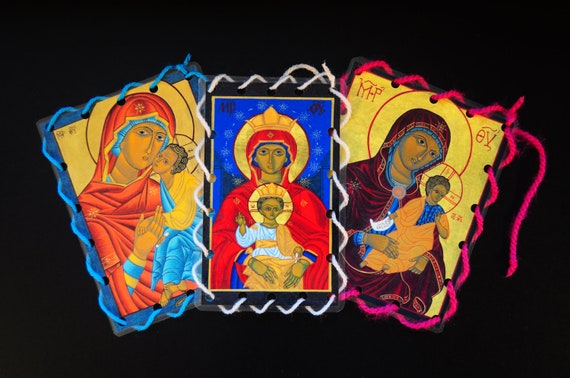 Toys For Church : Catholic icon lacing cards religious quiet toy for church