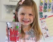 DIY teacher gift - Personalized acrylic tumbler  - polka-dot your own tumbler kit  - Have fun adding your own dots
