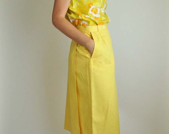Medium/Large Yellow Midi Skirt