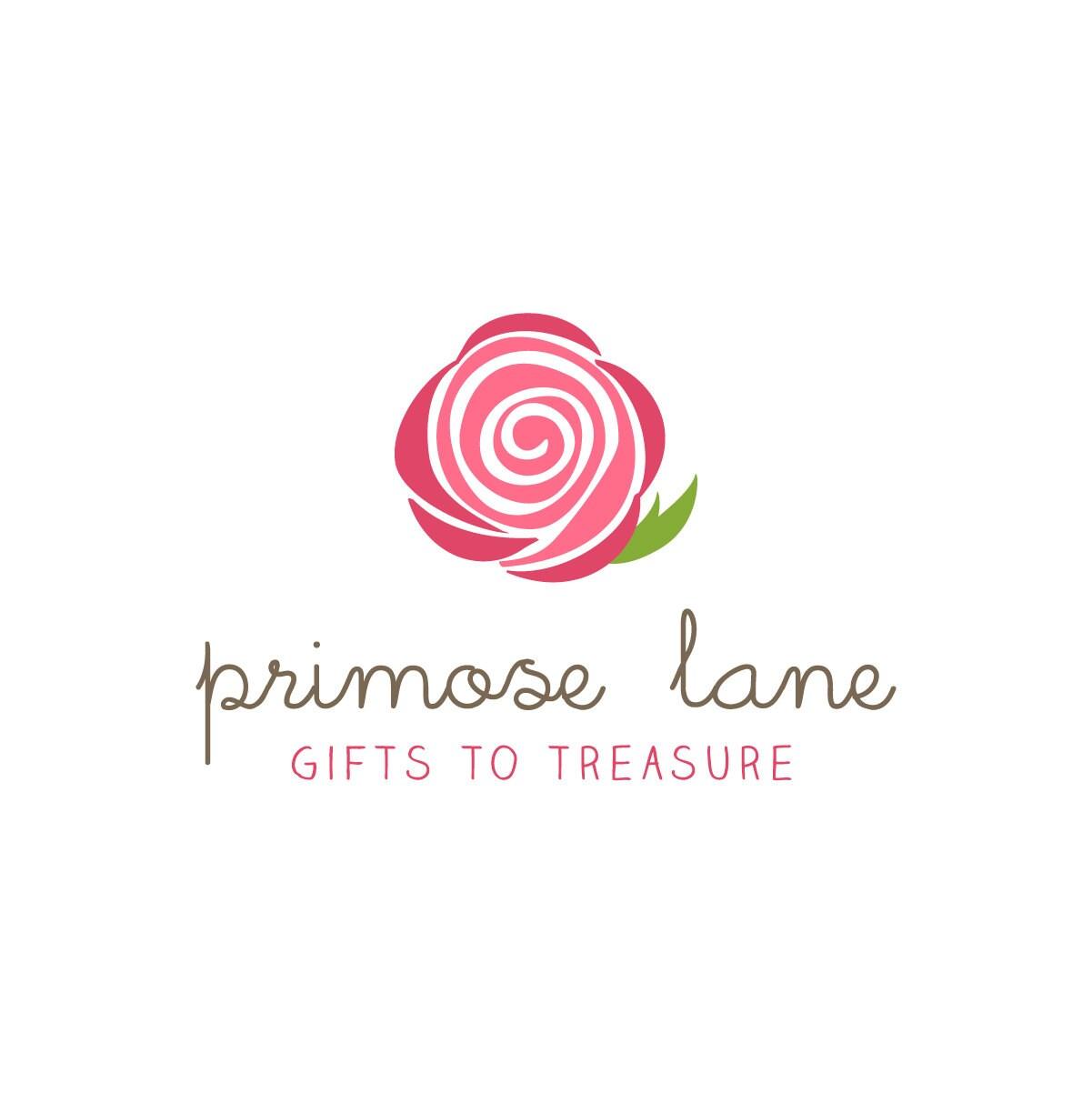 Reserved For Brittany Flower Rose Logo Design Pre made