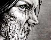 "Custom Zombie Portrait 8x11"" (Pencil Portrait)"