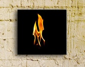 Fire Series:  Le Pterodactyle, 10x10 thinwrap, ready to hang