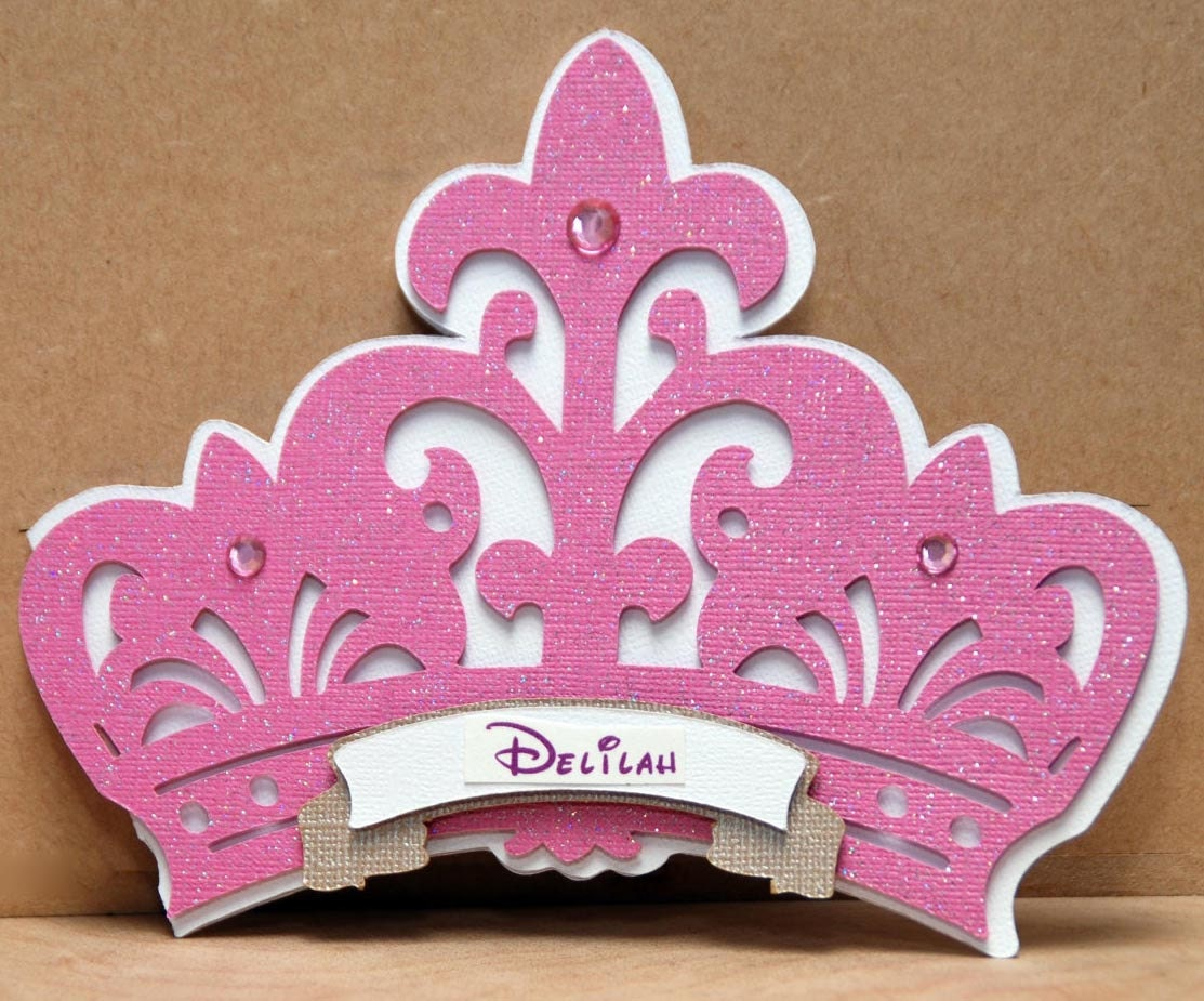 Princess Crown Invitation by Bloominkards on Etsy