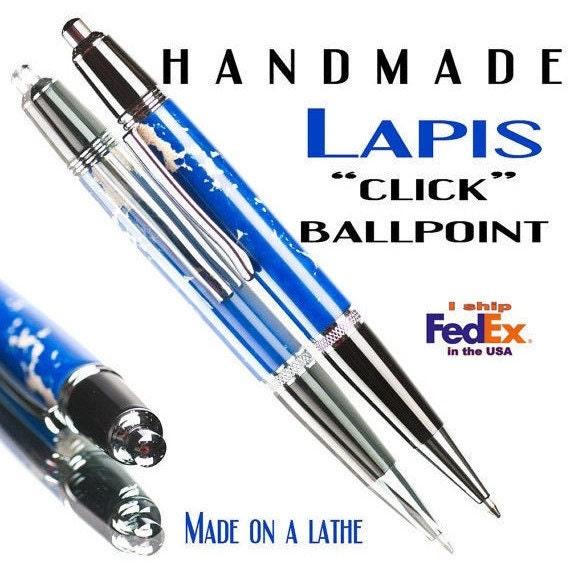 Ballpoint Lapis Pen blue Click style high quality gift idea