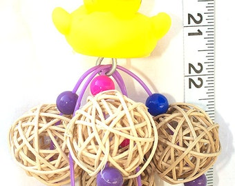 Vine Ball Ducky - Bird Toy by A Bird Toy - Parrot Toys & Toy Making Parts