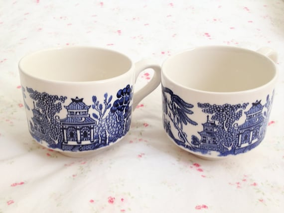 Vintage Churchill Willow Cups