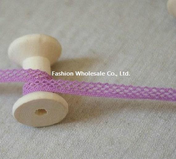 4 Yards Cotton Crochet Lace - Ayukimo, Light Purple (Free Bobbin Cardboard)
