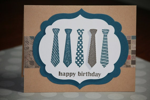 One Handmade Birthday Card For A Man Masculine Birthday Card – Birthday Cards for Man
