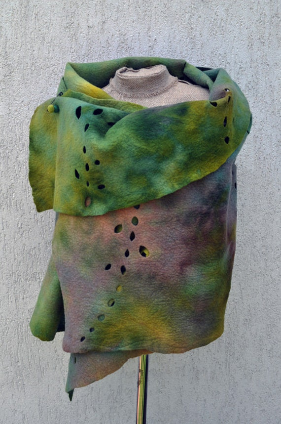 Big Felted shawl