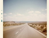 """Vintage Photo """"Open Highway"""", Photography, Paper Ephemera, Snapshot, Old Photo, Collectibles - FT029"""