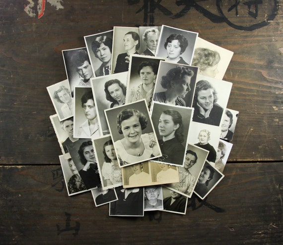 "28 Vintage Photos ""Women Portraits"", Photography, Paper Ephemera, Snapshot, Old Photo, Collectibles - 21"