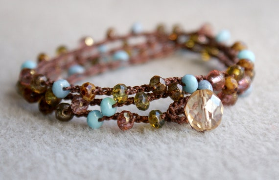 CUSTOM LISTING for KELLY - Arizona boho crochet necklace, boho chic, bohemian jewelry, turquoise, peridot, pink, jasper
