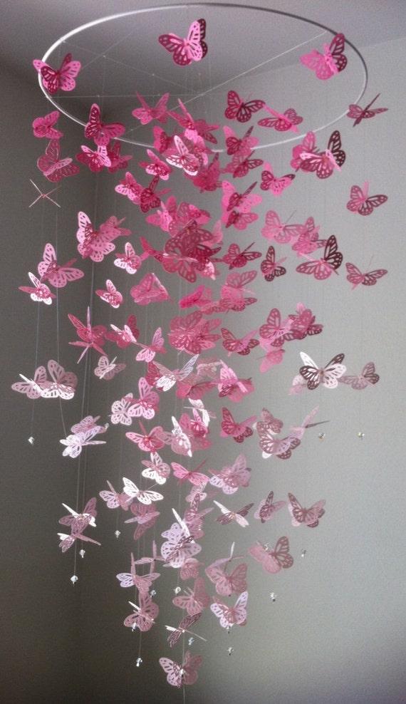 lustre papillon monarque mobile version parfaitement rose. Black Bedroom Furniture Sets. Home Design Ideas
