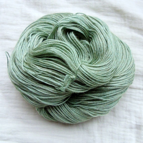Hand Dyed Baby Camel & Silk 4ply 100g - Leafy