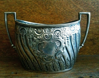 Antique English metal sugar pot circa 1900's / English Shop