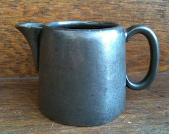 Antique English metal creamer cream milk jug circa 1900's / English Shop