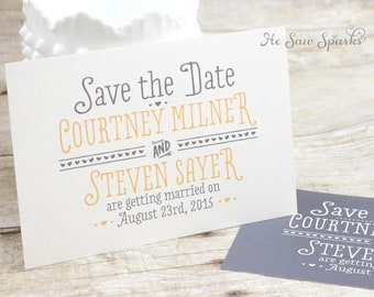 Printable Save the Date Postcard -  Ready For Fun
