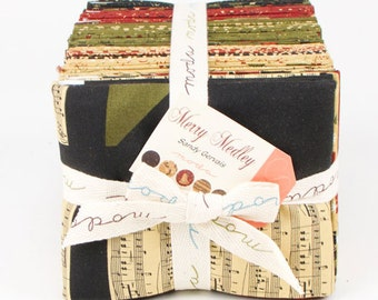SALE 1 Complete Set Fat Quarter Bundle from the Merry Medley Collection by  Sandy Gervais for Moda