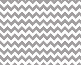 "End of Bolt 18"" of Yard of Small Chevron in Gray by Riley Blake"